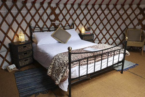 Luxury beds at Caalm Camp - glamping breaks