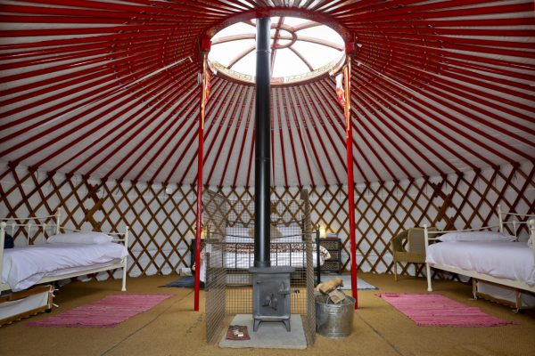 Winter Glamping in a Mongolian Yurt