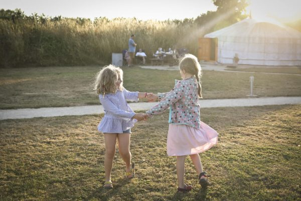 Family Glamping Holiday - playground at Caalm Camp
